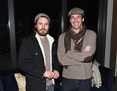 Actors Casey Affleck and Jon Hamm attend An Artist at the Table cocktails and dinner program benefit during 2016 Sundance Film Festival at the...