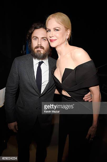 Actors Casey Affleck and Nicole Kidman attend The 22nd Annual Critics' Choice Awards at Barker Hangar on December 11 2016 in Santa Monica California
