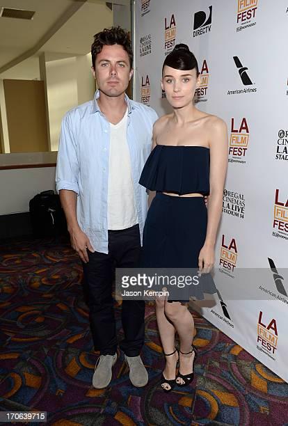 Actors Casey Affleck and Rooney Mara arrive at the 'Ain't Them Bodies Saints' premiere during the 2013 Los Angeles Film Festival at Regal Cinemas LA...