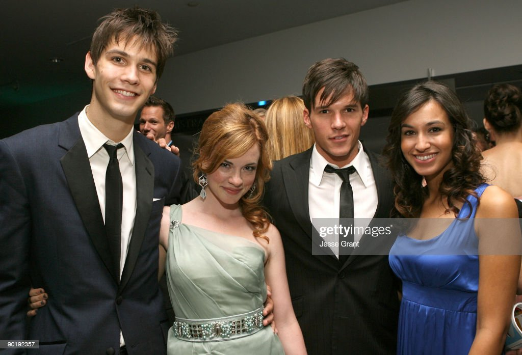 Actors Casey Jon Deidrick, Molly Burnett, Mark Hapka, and guest attends the 36th Annual Daytime Emmy Awards after party on August 30, 2009 in Los Angeles, California.