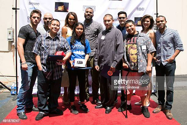 Actors Casey Moss Lobo Sebastian Crystle Stewart rapper The Game actors Jeananne Goossen and Robert Bailey Jr pose with award winners during The Game...