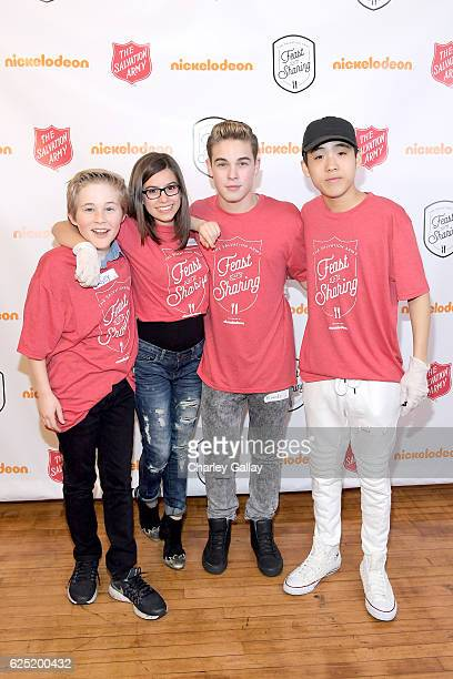 Actors Casey Simpson from Nicky Ricky Dicky Dawn Madisyn Shipman from Game Shakers Ricardo Hurtado from Glitch Techs and Lance Lim from School of...