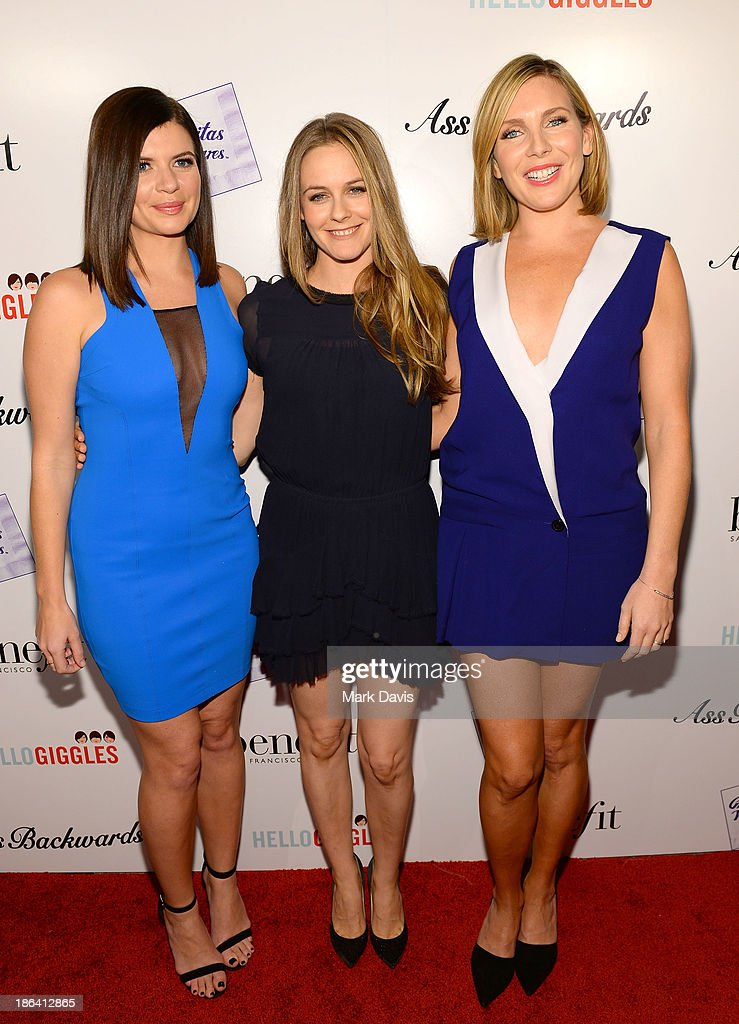 Actors <a gi-track='captionPersonalityLinkClicked' href=/galleries/search?phrase=Casey+Wilson&family=editorial&specificpeople=4980510 ng-click='$event.stopPropagation()'>Casey Wilson</a>, <a gi-track='captionPersonalityLinkClicked' href=/galleries/search?phrase=Alicia+Silverstone&family=editorial&specificpeople=202861 ng-click='$event.stopPropagation()'>Alicia Silverstone</a> and <a gi-track='captionPersonalityLinkClicked' href=/galleries/search?phrase=June+Diane+Raphael&family=editorial&specificpeople=5923890 ng-click='$event.stopPropagation()'>June Diane Raphael</a> attend the premiere of Gravitas Ventures' 'Ass Backwards' at the Vista Theatre on October 30, 2013 in Los Angeles, California.