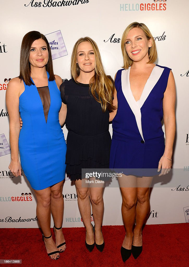 Actors Casey Wilson, Alicia Silverstone and June Diane Raphael attend the premiere of Gravitas Ventures' 'Ass Backwards' at the Vista Theatre on October 30, 2013 in Los Angeles, California.
