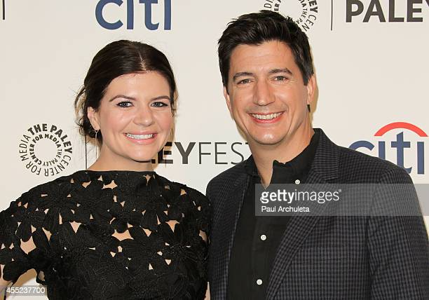 Actors Casey Wilson and Ken Marino attend the 2014 PaleyFest Fall TV preview for NBC at The Paley Center for Media on September 10 2014 in Beverly...