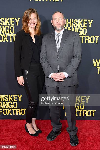 Actors Cassidy Freeman and Jon Kristian Moore attend the 'Whiskey Tango Foxtrot' world premiere Arrivals at AMC Loews Lincoln Square 13 theater on...