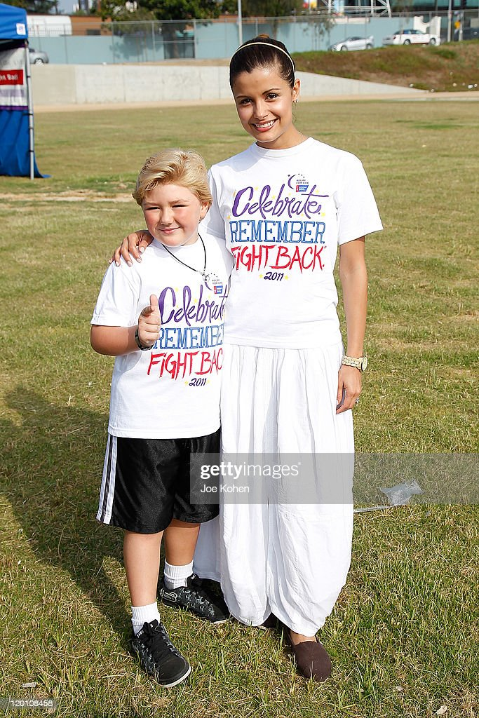 Actors Catalina Rodriguez (R) and Zachary Alexander Rice attends American Cancer Society's 2nd Annual Relay For Life Of Hollywood on July 30, 2011 in Hollywood, California.