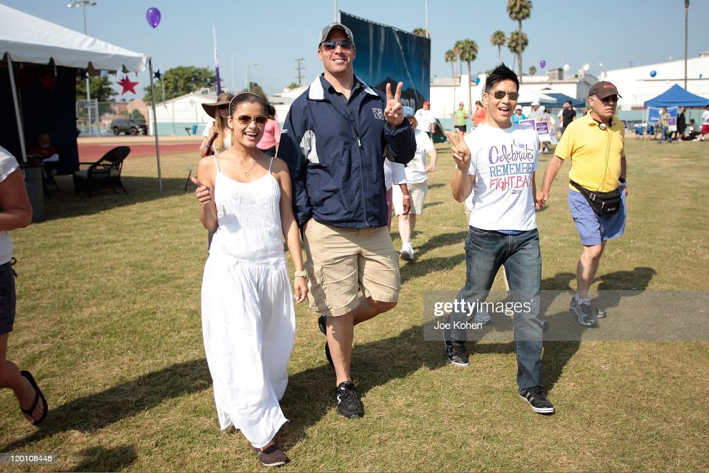 Actors (L-R) Catalina Rodriguez, <a gi-track='captionPersonalityLinkClicked' href=/galleries/search?phrase=Brandon+Molale&family=editorial&specificpeople=2178991 ng-click='$event.stopPropagation()'>Brandon Molale</a> and Herman Chan attends American Cancer Society's 2nd Annual Relay For Life Of Hollywood on July 30, 2011 in Hollywood, California.