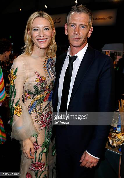 Actors Cate Blanchett and Ben Mendelsohn attend the 2016 Film Independent Spirit Awards on February 27 2016 in Santa Monica California