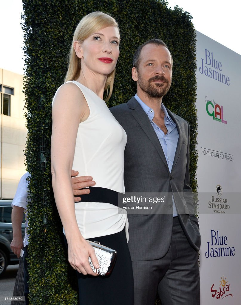 Actors <a gi-track='captionPersonalityLinkClicked' href=/galleries/search?phrase=Cate+Blanchett&family=editorial&specificpeople=201621 ng-click='$event.stopPropagation()'>Cate Blanchett</a> and <a gi-track='captionPersonalityLinkClicked' href=/galleries/search?phrase=Peter+Sarsgaard&family=editorial&specificpeople=210547 ng-click='$event.stopPropagation()'>Peter Sarsgaard</a> arrive at the premiere of 'Blue Jasmine' hosted by AFI & Sony Picture Classics at AMPAS Samuel Goldwyn Theater on July 24, 2013 in Beverly Hills, California.