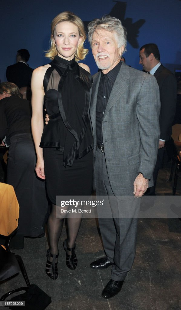 Actors <a gi-track='captionPersonalityLinkClicked' href=/galleries/search?phrase=Cate+Blanchett&family=editorial&specificpeople=201621 ng-click='$event.stopPropagation()'>Cate Blanchett</a> (L) and <a gi-track='captionPersonalityLinkClicked' href=/galleries/search?phrase=Tom+Skerritt&family=editorial&specificpeople=585811 ng-click='$event.stopPropagation()'>Tom Skerritt</a> attend the IWC Top Gun Gala Event at 22nd SIHH High Jewellery Fair on at the Palexpo Exhibition Hall January 17, 2012 in Geneva, Switzerland.