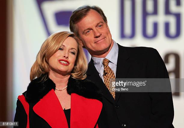 Actors Catherine Hicks L and Stephen Collins of '7th Heaven' present the award for 'Best Drama' during the taping of the 6th Annual Family Television...