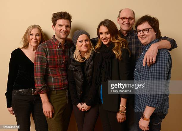 Actors Catherine O'Hara Adam Scott Amy Poehler Jessica Alba Richard Jenkins and Clark Duke pose for a portrait during the 2013 Sundance Film Festival...