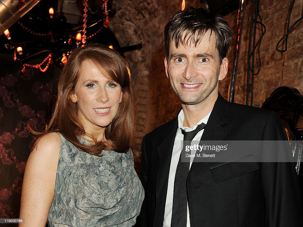 Actors <a gi-track='captionPersonalityLinkClicked' href=/galleries/search?phrase=Catherine+Tate&family=editorial&specificpeople=228589 ng-click='$event.stopPropagation()'>Catherine Tate</a> (L) and <a gi-track='captionPersonalityLinkClicked' href=/galleries/search?phrase=David+Tennant&family=editorial&specificpeople=220227 ng-click='$event.stopPropagation()'>David Tennant</a> attend an after party celebrating press night of the new west end production of Much Ado About Nothing at The Foundation Bar on June 1, 2011 in London, England.