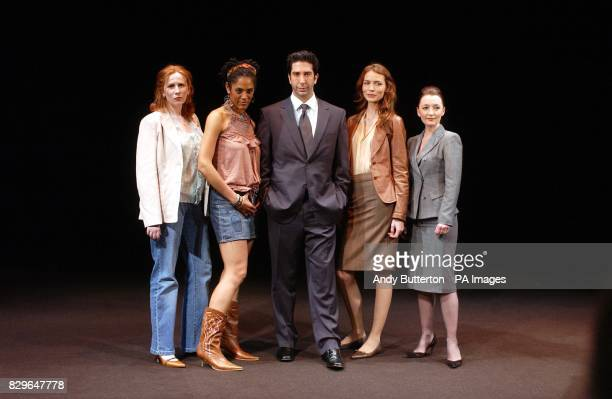 Actors Catherine Tate Sara Powell David Schwimmer Saffron Burrows and Lesley Manville