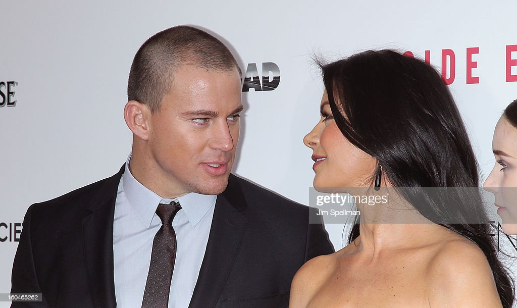 Actors Catherine Zeta-Jones and <a gi-track='captionPersonalityLinkClicked' href=/galleries/search?phrase=Channing+Tatum&family=editorial&specificpeople=549548 ng-click='$event.stopPropagation()'>Channing Tatum</a> attend the Open Road With The Cinema Society And Michael Kors Host The Premiere Of 'Side Effects' at AMC Lincoln Square Theater on January 31, 2013 in New York City.