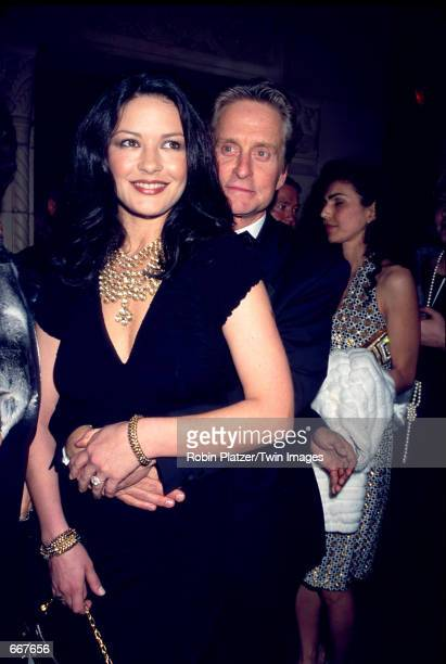 Actors Catherine ZetaJones and Michael Douglas attend the 17th Annual Night Of Stars 2000 Salute To Icons Of Design October 24 2000 in New York City...