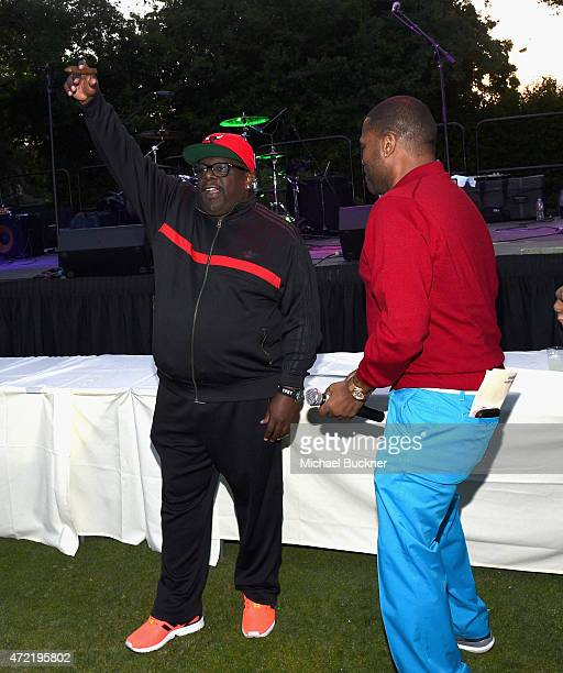 Actors Cedric the Entertainer and Anthony Anderson attended the 8th Annual George Lopez Celebrity Golf Classic presented by Sabra Salsa to benefit...