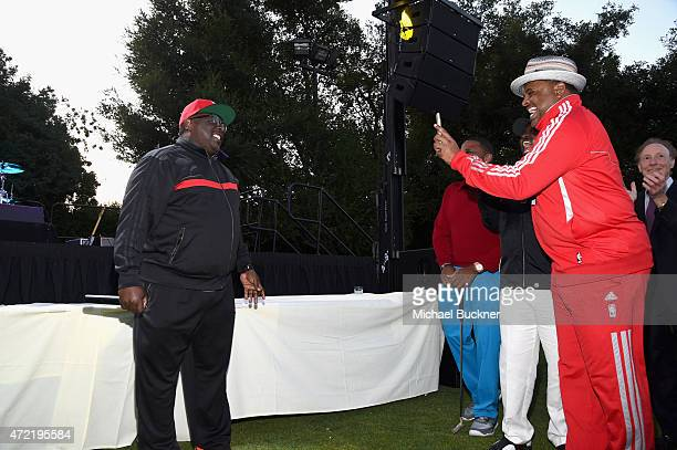 Actors Cedric the Entertainer Anthony Anderson and journalist Roland Martin attended the 8th Annual George Lopez Celebrity Golf Classic presented by...
