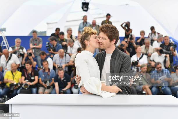 Actors Celine Sallette and Pierre Deladonchamps attend the 'Our Crazy Years ' photocall during the 70th annual Cannes Film Festival at Palais des...