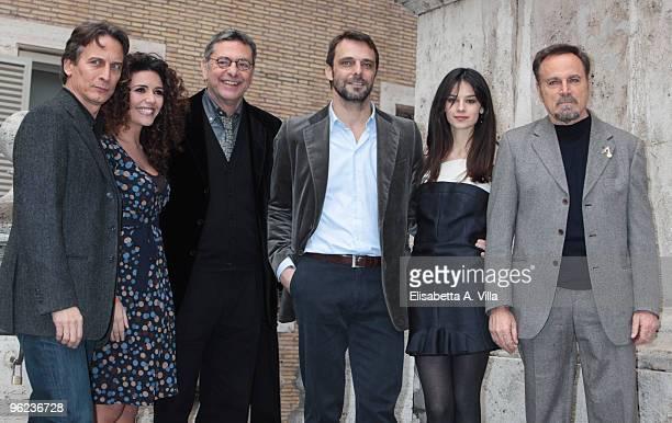 Actors Cesare Bocci Serena Rossi Andrea Giordana Alessandro Preziosi Katy Saunders and Franco Nero attend 'Sant'Agostino' photocall at Sant'Agostino...