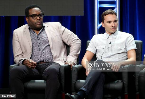 Actors Chad Coleman and Mark Jackson of 'The Orville' speak onstage during the FOX portion of the 2017 Summer Television Critics Association Press...
