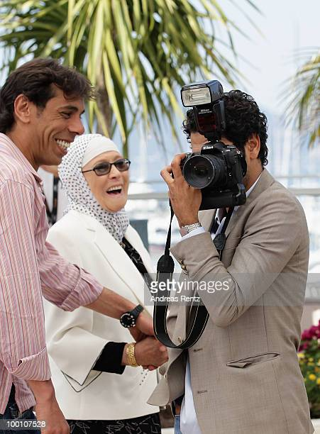 Actors Chafia Boudraa and Jamel Debbouze attend the 'Outside Of The Law' Photocall at the Palais des Festivals during the 63rd Annual Cannes Film...