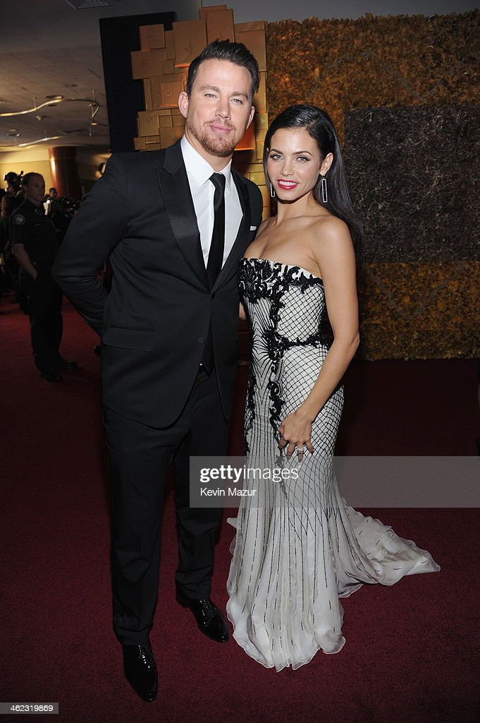 Actors <a gi-track='captionPersonalityLinkClicked' href=/galleries/search?phrase=Channing+Tatum&family=editorial&specificpeople=549548 ng-click='$event.stopPropagation()'>Channing Tatum</a> (L) and Jenna Dewan attend the 2014 InStyle And Warner Bros. 71st Annual Golden Globe Awards Post-Party at The Beverly Hilton Hotel on January 12, 2014 in Beverly Hills, California.