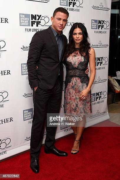 Actors Channing Tatum and Jenna Dewan attend the 'Foxcatcher' premiere during the 52nd New York Film Festival at Alice Tully Hall on October 10 2014...