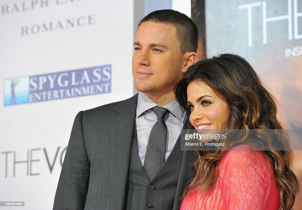 Actors <a gi-track='captionPersonalityLinkClicked' href=/galleries/search?phrase=Channing+Tatum&family=editorial&specificpeople=549548 ng-click='$event.stopPropagation()'>Channing Tatum</a> and Jenna Dewan attend the premiere of Sony Pictures' 'The Vow' at Grauman's Chinese Theatre on February 6, 2012 in Hollywood, California.