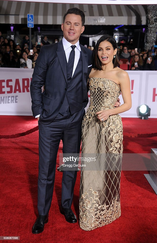 Actors Channing Tatum and Jenna Dewan Tatum arrive at the premiere of Universal Pictures' 'Hail, Caesar!' at Regency Village Theatre on February 1, 2016 in Westwood, California.