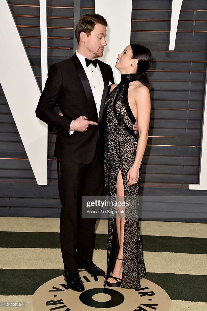 Actors Channing Tatum and Jenna Dewan Tatum attend the 2015 Vanity Fair Oscar Party hosted by Graydon Carter at Wallis Annenberg Center for the...