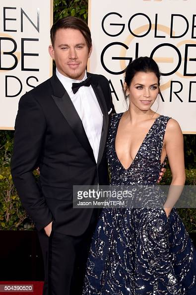 Actors Channing Tatum and Jenna Dewan Tatum attend the 73rd Annual Golden Globe Awards held at the Beverly Hilton Hotel on January 10 2016 in Beverly...
