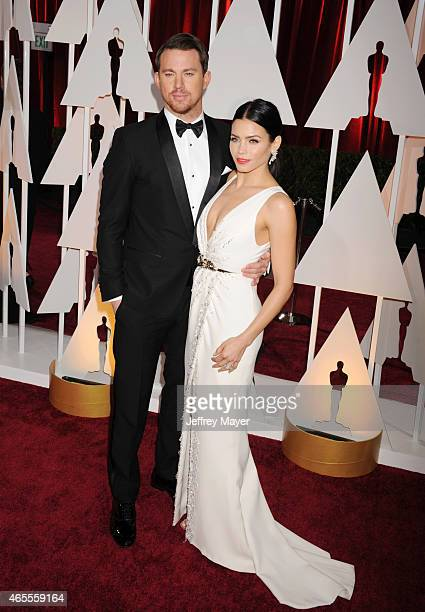 Actors Channing Tatum and Jenna DewanTatum arrive at the 87th Annual Academy Awards at Hollywood Highland Center on February 22 2015 in Hollywood...