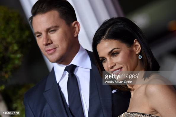 Actors Channing Tatum and Jenna DewanTatum arrive at the premiere of Universal Pictures' 'Hail Caesar' at Regency Village Theatre on February 1 2016...