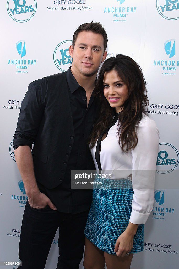 Actors Channing Tatum (L) and Jenna Dewan-Tatum attend '10 Years' brunch reunion event hosted by GREY GOOSE Vodka And Anchor Bay Films at Hotel Chantelle on September 16, 2012 in New York City.