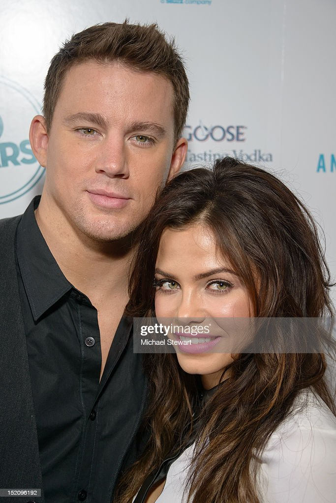 Actors Channing Tatum (L) and Jenna Dewan-Tatum attend '10 Years' New York Brunch Reunion at Hotel Chantelle on September 16, 2012 in New York City.