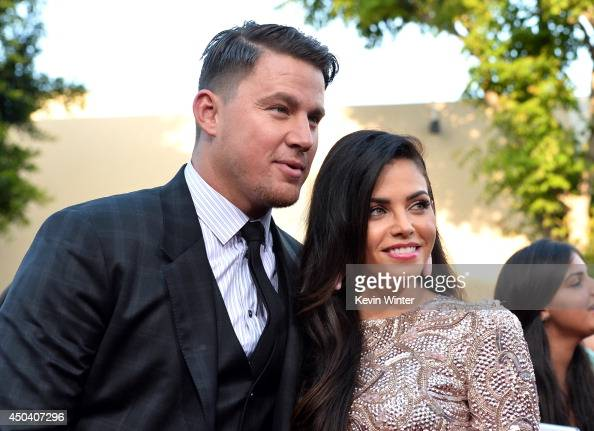 Actors Channing Tatum and Jenna DewanTatum attend the Premiere Of Columbia Pictures' '22 Jump Street' at Regency Village Theatre on June 10 2014 in...
