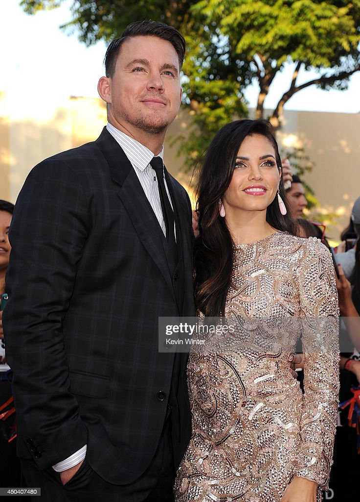 Actors <a gi-track='captionPersonalityLinkClicked' href=/galleries/search?phrase=Channing+Tatum&family=editorial&specificpeople=549548 ng-click='$event.stopPropagation()'>Channing Tatum</a> (L) and <a gi-track='captionPersonalityLinkClicked' href=/galleries/search?phrase=Jenna+Dewan-Tatum&family=editorial&specificpeople=7220442 ng-click='$event.stopPropagation()'>Jenna Dewan-Tatum</a> attend the Premiere Of Columbia Pictures' '22 Jump Street' at Regency Village Theatre on June 10, 2014 in Westwood, California.