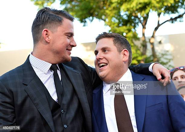 Actors Channing Tatum and Jonah Hill attend the Premiere Of Columbia Pictures' '22 Jump Street' at Regency Village Theatre on June 10 2014 in...