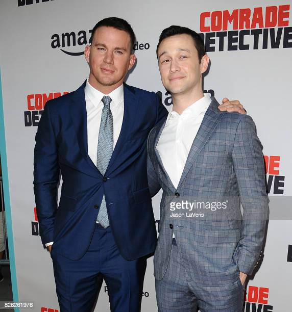 Actors Channing Tatum and Joseph GordonLevitt attend the premiere of 'Comrade Detective' at ArcLight Hollywood on August 3 2017 in Hollywood...