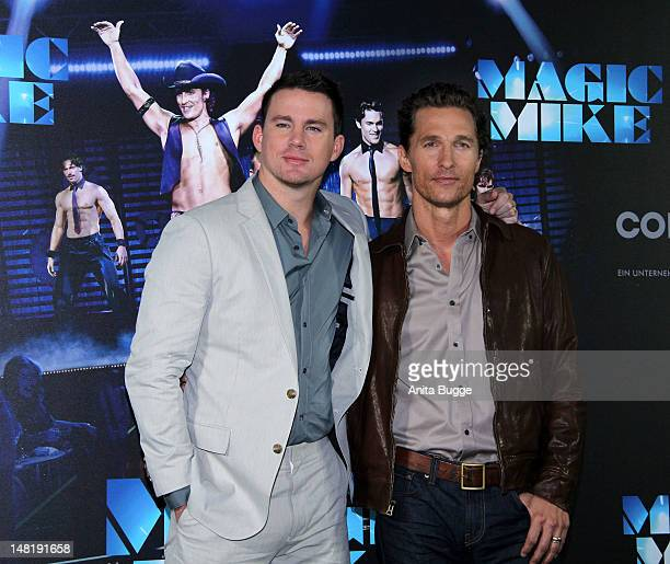 Actors Channing Tatum and Matthew McConaughey attend the 'Magic Mike' photocall at Hotel De Rome on July 12 2012 in Berlin Germany