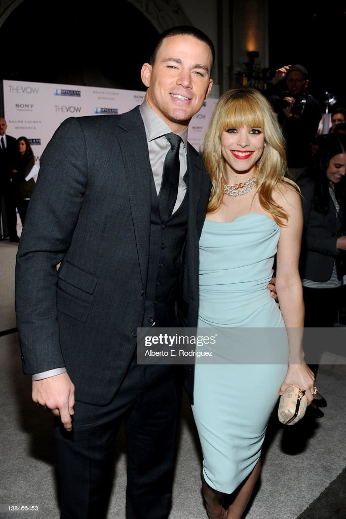 Actors <a gi-track='captionPersonalityLinkClicked' href=/galleries/search?phrase=Channing+Tatum&family=editorial&specificpeople=549548 ng-click='$event.stopPropagation()'>Channing Tatum</a> and <a gi-track='captionPersonalityLinkClicked' href=/galleries/search?phrase=Rachel+McAdams&family=editorial&specificpeople=212942 ng-click='$event.stopPropagation()'>Rachel McAdams</a> attend the premiere of Sony Pictures' 'The Vow' at Grauman's Chinese Theatre on February 6, 2012 in Hollywood, California.
