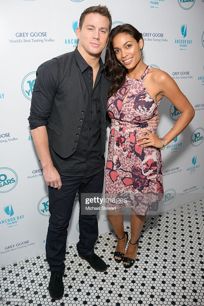 Actors Channing Tatum (L) and Rosario Dawson attend '10 Years' New York Brunch Reunion at Hotel Chantelle on September 16, 2012 in New York City.