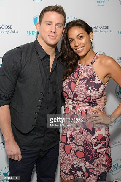 Actors Channing Tatum and Rosario Dawson attend '10 Years' New York Brunch Reunion at Hotel Chantelle on September 16 2012 in New York City
