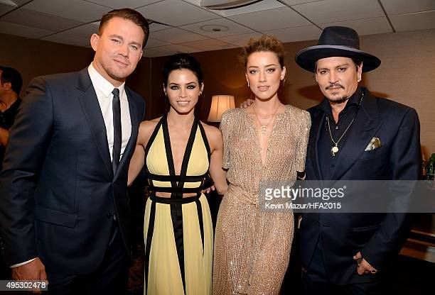 Actors Channing Tatum Jenna Dewan Tatum Amber Heard and Johnny Depp attend the 19th Annual Hollywood Film Awards at The Beverly Hilton Hotel on...