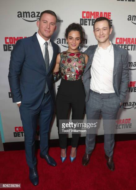 Actors Channing Tatum Jenny Slate and Joseph GordonLevitt attend Amazon Prime Video Premiere Of Original Comedy Series 'Comrade Detective' In Los...
