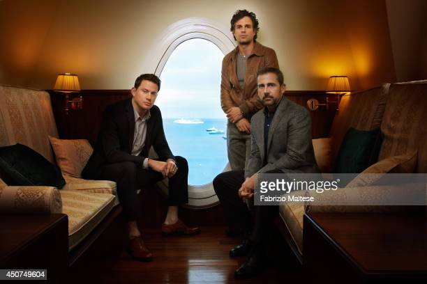 Actors Channing Tatum Mark Ruffalo and Steve Carell are photograohed for the Hollywood Reporter in Cannes France