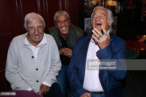 Actors Charles Gerard Samy Naceri and JeanPaul Belmondo attend the 'Trophees du Bien Etre' by Beautysane 2nd Award Ceremony at Theatre Montparnasse...