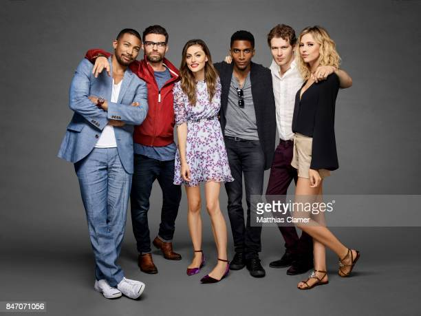 Actors Charles Michael Davis Daniel Gillies Phoebe Tonkin Yusuf Gatewood Joseph Morgan and Riley Voelkel from 'The Originals' are photographed for...
